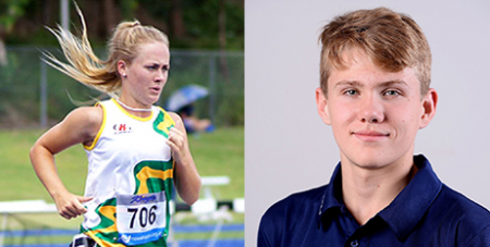 Ella Heeney (left) and Tim Hodge (Armidale Athletics and Wikipedia/Australian Paralympic Committee)