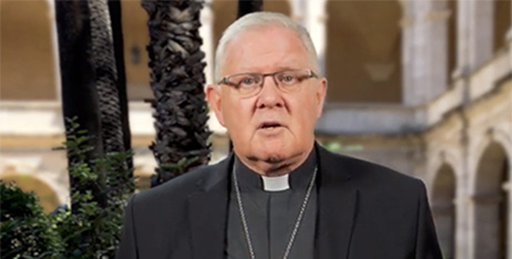 Archbishop Mark Coleridge in a screenshot from the video message (ACBC)