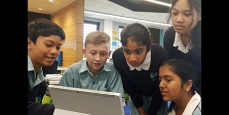 Students at St Luke's undertake personalised lessons (ABC News/Jerry Rickard)