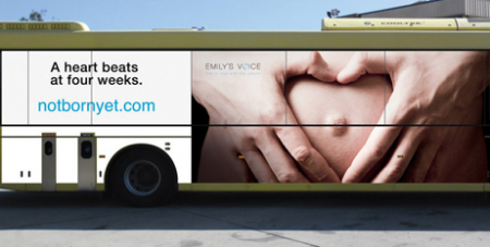 The ad was banned from state buses in Newcastle, NSW (emilysvoice.com)