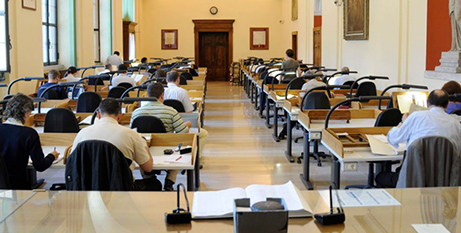 Scholars review materials in the Vatican Apostolic Archives (CNS/Vatican Apostolic Archives)