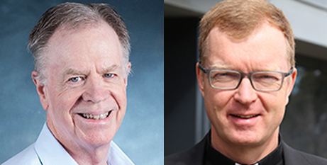 Professor James Keenan SJ (left) and Fr Hans Zollner SJ (Boston College and ACBC)