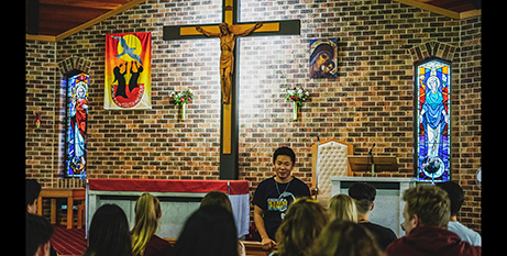 Christian Nobleza speaks to young people (Catholic Voice)
