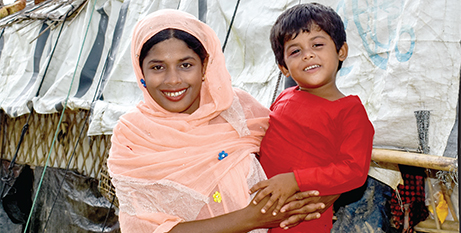 Funds raised through previous Project Compassion appeals helped Rohingya woman Jamila find emergency food and shelter in Bangladesh (Caritas Bangladesh)