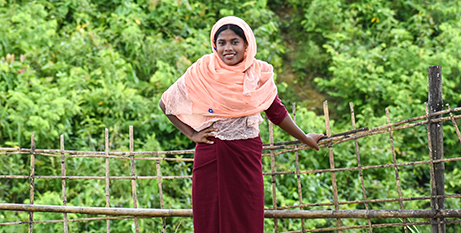 Jamila has been supported to learn new skills to take care of her family (Caritas Bangladesh/Inmanuel Chayan Biswas)