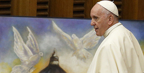 Pope Francis signed off on the 2021 budget last week (CNS/Paul Haring)