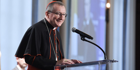 Cardinal Pietro Parolin (CNS/Dana Rene Bowler, The Catholic University of America)
