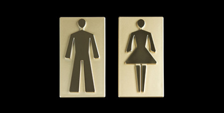Bathroom sign (Dreamstime)