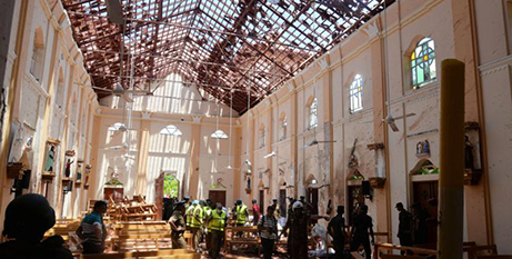 St Sebastian Church in Negombo, Sri Lanka, was one of the places of worship attacked on Easter Sunday (CNS/Reuters)