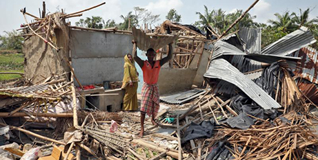 The remains of a house destroyed by Cyclone Amphan (CNS photo/Rupak De Chowdhuri, Reuters)