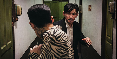 Jung-jae Lee (left) and Jung-min Hwang in Deliver us From Evil (IMDB)