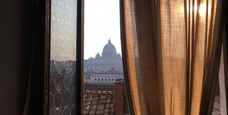 St Peter's Basilica at the Vatican seen from a terrace in Rome (CNS/Paul Haring)