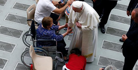 The updated directory provides catechesis to prepare disabled people for the sacraments (CNS/Yara Nardi, Reuters)