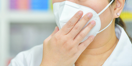 N95 masks for Victorian health workers have fallen to alarmingly low levels (Bigstock)
