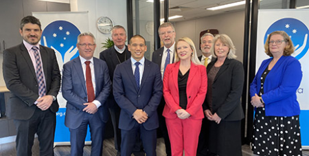 The Catholic Health Australia offices were blessed and opened on Tuesday (CHA)