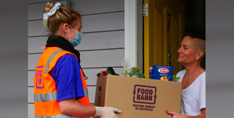 The report said casual workers and international students were among two 'newly food insecure groups' emerging in the pandemic (Foodbank)