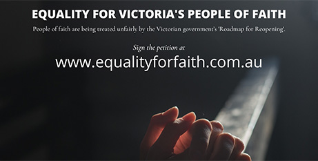 The Equality for Faith petition (Supplied)