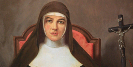 Detail of a portrait of St Mary MacKillop at Mary MacKillop Place in North Sydney (CNS/Nancy Nancy Wiechec)