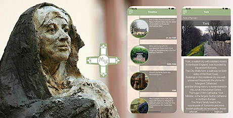 Screenshots from the On Pilgrimage with Mary Ward app (Supplied)