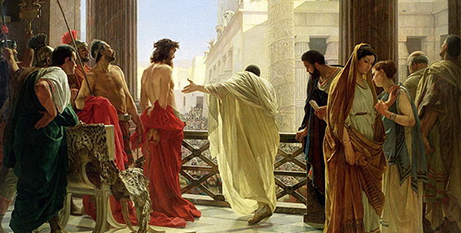 A detail of Ecco Homo (Behold the Man) by Antonio Ciseri, oil on canvas, circa 1860-80 (Wikimedia)