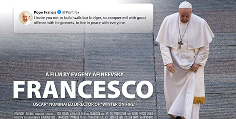 The poster for the new documentary on Pope Francis (Vatican Media)