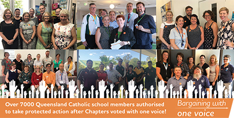 Teachers in Catholic schools in Queensland are demanding a revision of workloads, job security and wage parity (IEUQLD)