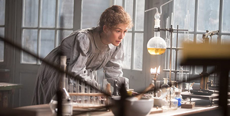 Rosamund Pike as Marie Curie in Radioactive (IMDB)