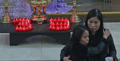 Candles were lit to read '39' (The Tablet/Yui Mok, PA Wire/PA Images)