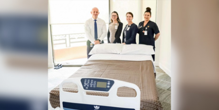 A cuddle bed for end-of-life care at St John of God hospital in Western Australia (Supplied)