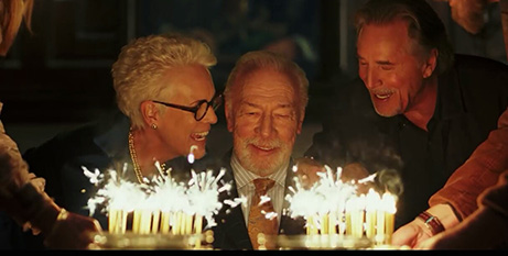 Jamie Lee Curtis, Christopher Plummer and Don Johnson in Knives Out (IMDB)