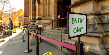 St Mary's Cathedral in Sydney will now be able to accommodate up to 500 people (Catholic Weekly/Giovanni Portelli)