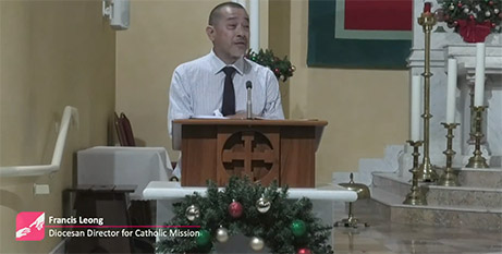 Francis Leong at the Catholic Mission Christmas Reflection (Catholic Mission)