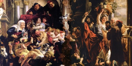 Christ Driving Merchants From Temple Jacob Jordaens1650CreditFreeChristImageDotOrg