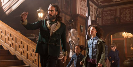 Russel Brand brings his in-your-face style to the role of villain in this children