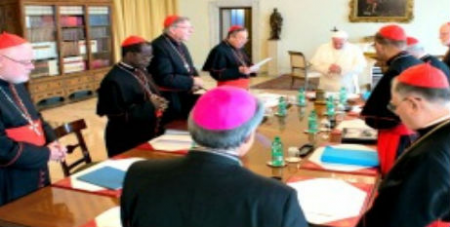 Pope and his Cardinal advisors