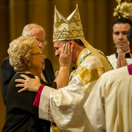 The Archbishop with his mother